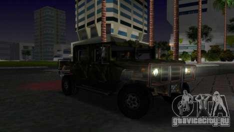 Русская текстура Patriot для GTA Vice City вид сзади слева