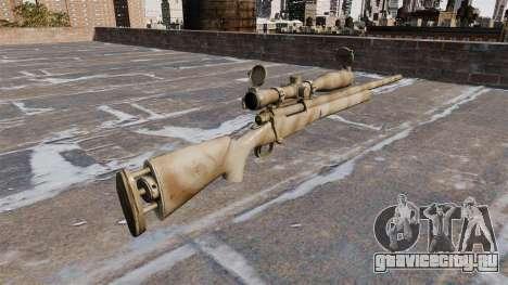 Снайперская винтовка M24 SWS для GTA 4 второй скриншот
