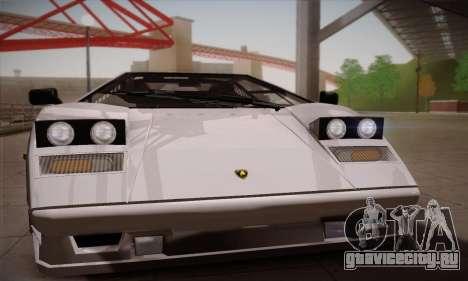 Lamborghini Countach 25th Anniversary для GTA San Andreas вид сзади слева