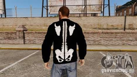 Чёрный свитер -Скелет- для GTA 4 второй скриншот