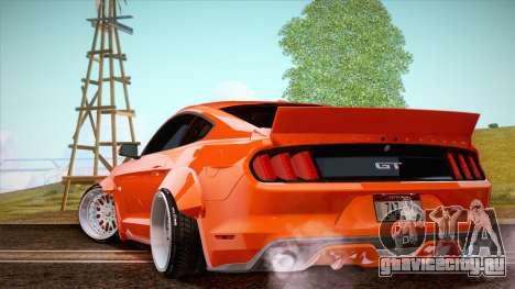 Ford Mustang Rocket Bunny 2015 для GTA San Andreas вид сзади слева
