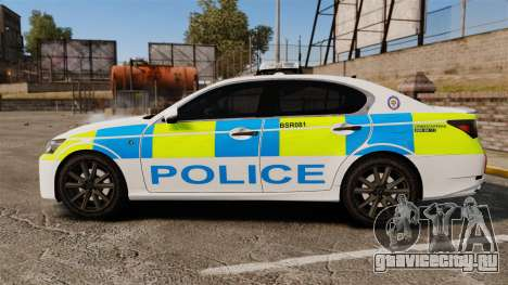 Lexus GS350 West Midlands Police [ELS] для GTA 4 вид слева