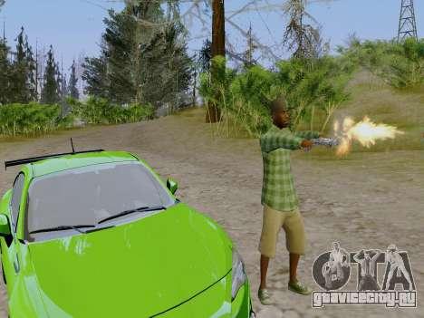 Член банды Grove Street из GTA 5 для GTA San Andreas четвёртый скриншот