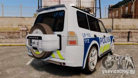 Mitsubishi Pajero Finnish Police [ELS] для GTA 4