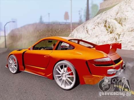 Porsche Carrera S для GTA San Andreas вид снизу
