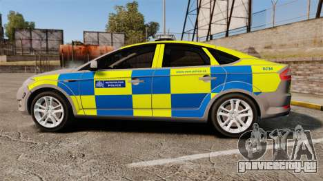 Ford Mondeo Metropolitan Police [ELS] для GTA 4 вид слева