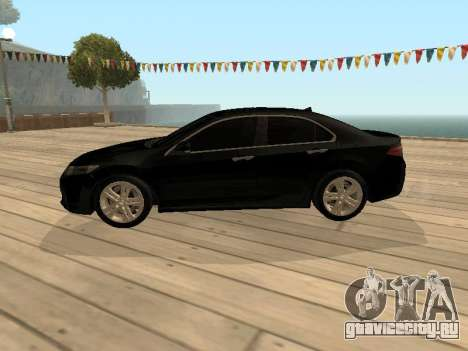 Honda Accord 2010 V2.0 для GTA San Andreas вид сзади слева