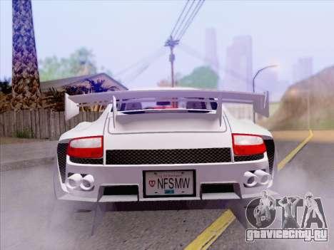 Porsche Carrera S для GTA San Andreas вид сбоку