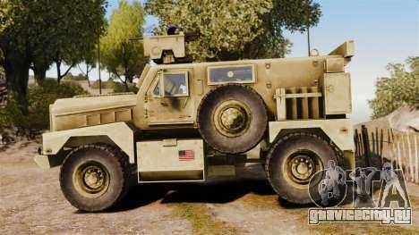 Cougar MRAP 4X4 для GTA 4 вид слева