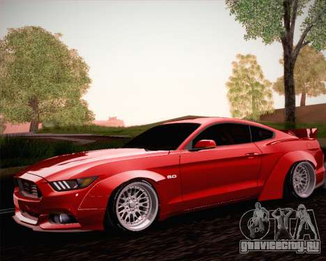 Ford Mustang Rocket Bunny 2015 для GTA San Andreas вид сбоку
