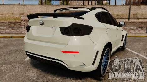 BMW X6 M HAMANN 2012 для GTA 4 вид сзади слева