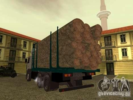 МАЗ 6430 Лесовоз для GTA San Andreas вид справа