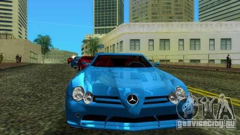 Mercedes-Benz SLR McLaren для GTA Vice City вид сзади слева