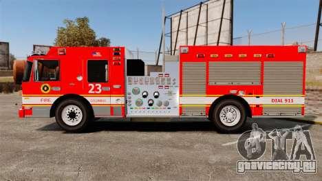Division on Fire Columbus Firetruck [ELS] для GTA 4 вид слева