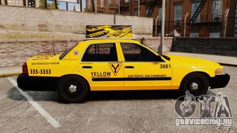 Ford Crown Victoria 1999 SF Yellow Cab для GTA 4 вид слева