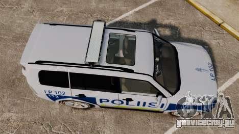 Mitsubishi Pajero Finnish Police [ELS] для GTA 4 вид справа