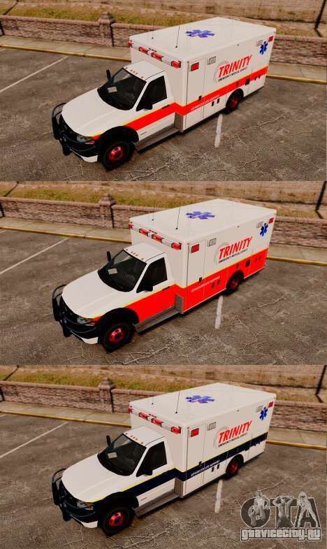 Landstalker L-350 Trinity EMS Ambulance [ELS] для GTA 4 вид сзади