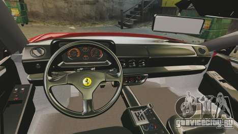 Ferrari Testarossa 1986 v1.1 для GTA 4 вид сзади