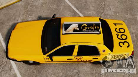 Ford Crown Victoria 1999 SF Yellow Cab для GTA 4 вид справа