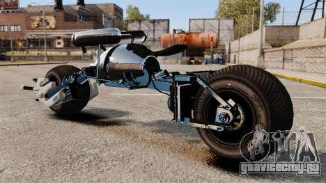 Бэтмотоцикл Бэтпод для GTA 4 вид слева