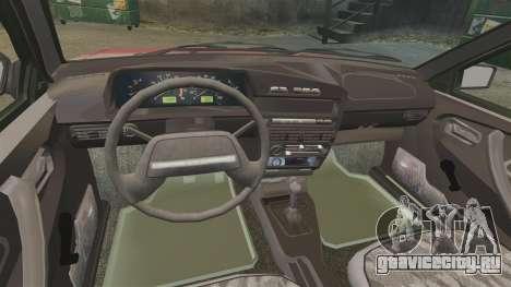 ВАЗ-2109 для GTA 4 вид изнутри