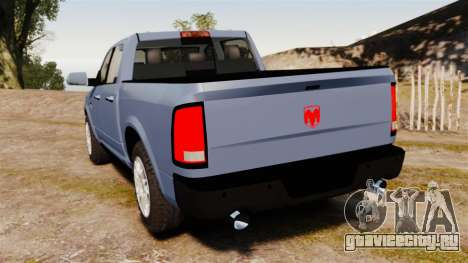 Dodge Ram 2010 для GTA 4 вид сзади слева