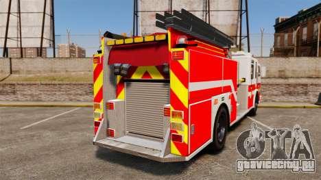 Firetruck Woonsocket [ELS] для GTA 4 вид сзади слева