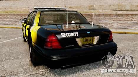 Ford Crown Victoria 2008 Security Patrol [ELS] для GTA 4 вид сзади слева