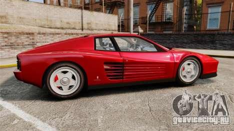 Ferrari Testarossa 1986 v1.1 для GTA 4 вид слева