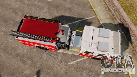 Firetruck Woonsocket [ELS] для GTA 4 вид справа