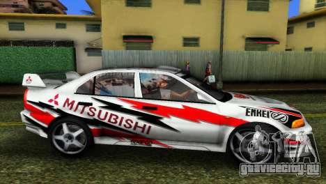 Mitsubishi Lancer Rally для GTA Vice City вид сзади слева