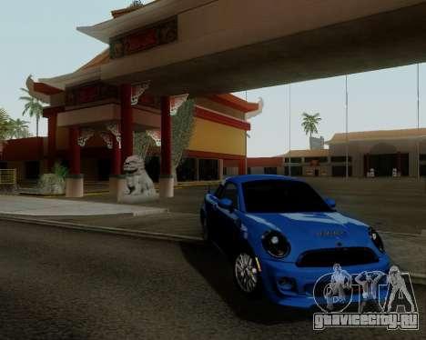 MINI Cooper S 2012 для GTA San Andreas вид слева