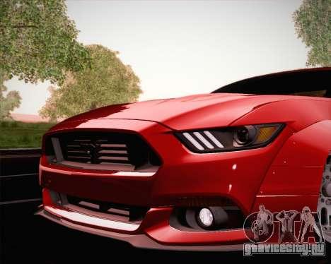 Ford Mustang Rocket Bunny 2015 для GTA San Andreas двигатель