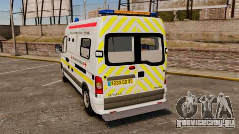 Renault Master French Red Cross [ELS] для GTA 4 вид сзади слева