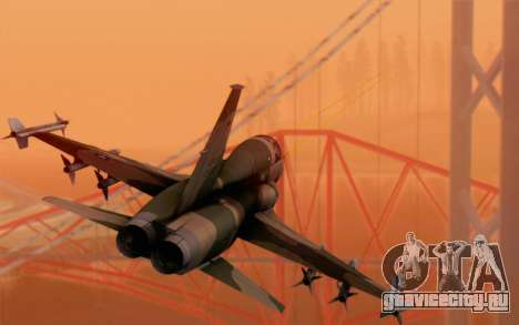 F-5 Tiger II для GTA San Andreas вид слева