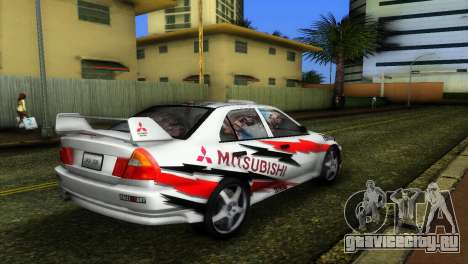 Mitsubishi Lancer Rally для GTA Vice City вид слева
