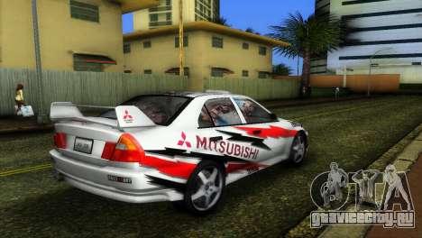 Mitsubishi Lancer Rally для GTA Vice City вид слева