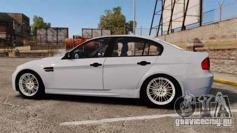 BMW M3 Unmarked Police [ELS] для GTA 4 вид слева