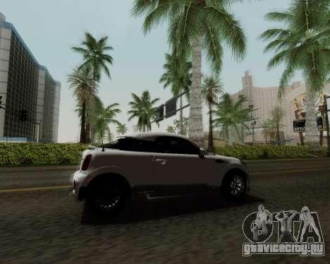 MINI Cooper S 2012 для GTA San Andreas вид сбоку