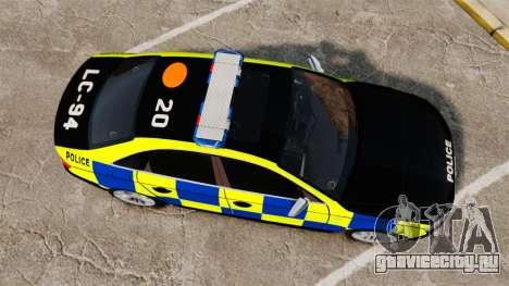 Audi S4 Police [ELS] для GTA 4 вид справа