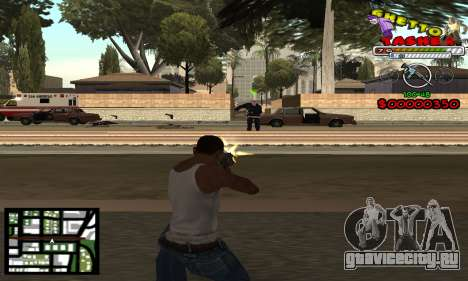 C-Hud Getto Tawer для GTA San Andreas второй скриншот