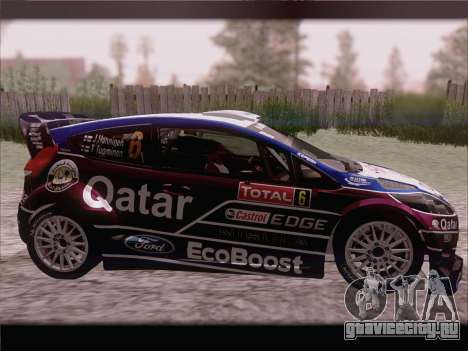 Ford Fiesta RS WRC 2013 для GTA San Andreas вид сзади