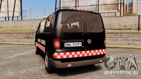 Volkswagen Transporter T5 2010 [ELS] для GTA 4 вид сзади слева