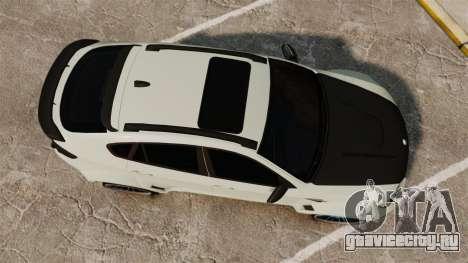 BMW X6 M HAMANN 2012 для GTA 4 вид справа