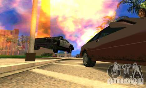 Ford Crown Victoria Police LV для GTA San Andreas вид изнутри
