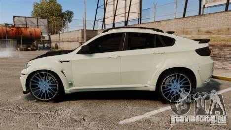 BMW X6 M HAMANN 2012 для GTA 4 вид слева