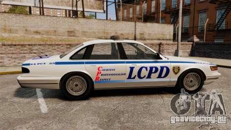 Vapid Police Cruiser v2.0 для GTA 4 вид слева
