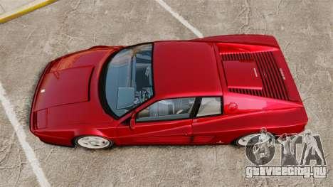 Ferrari Testarossa 1986 v1.1 для GTA 4 вид справа