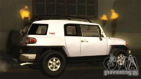 Toyota FJ Cruiser 2012 для GTA San Andreas вид слева