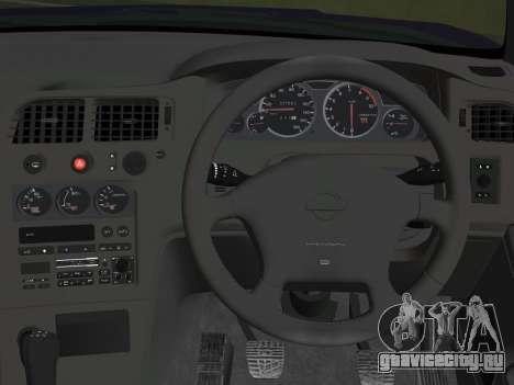 Nissan SKyline GT-R BNR33 для GTA Vice City вид сзади